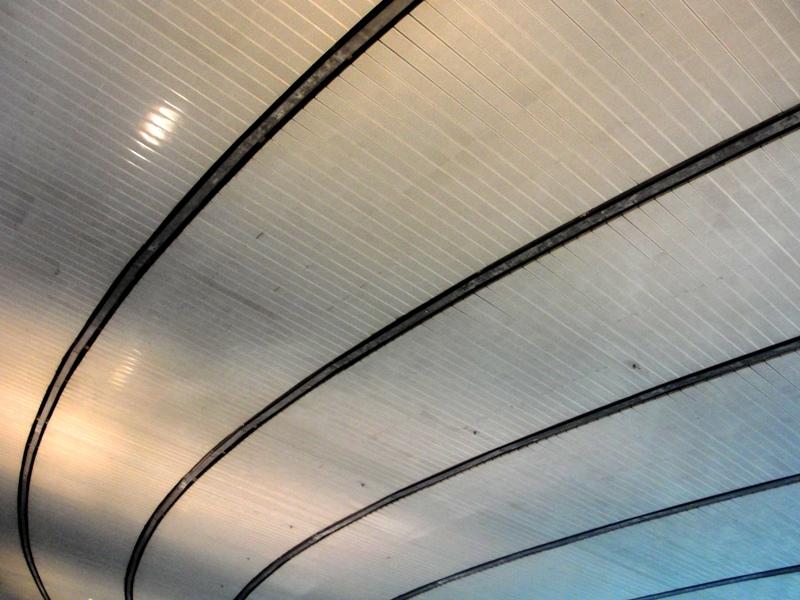 Las curvas del techo del Stade de France