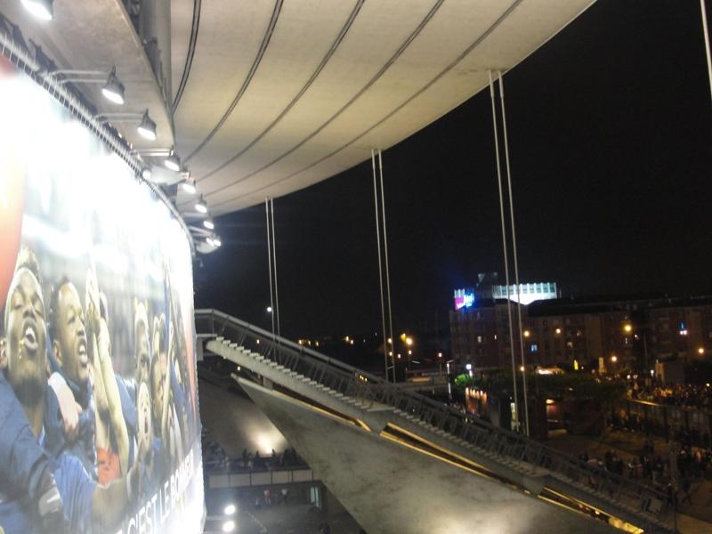 El exterior del estadio