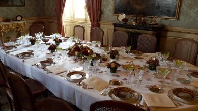 Antes el Quai d'Orsay era sede de grandes banquetes, hoy se ofrecen almuerzos o cenas de gala para grupos muy pequeños