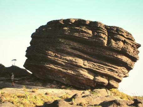 Piedras monumentales yacen por tiradas por todos lados, en la cima del Roraima (Foto: Johan Ramírez)