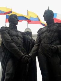 El épico encuentro entre Bolívar y San Martín en Guayaquil (Foto: Johan Ramírez)
