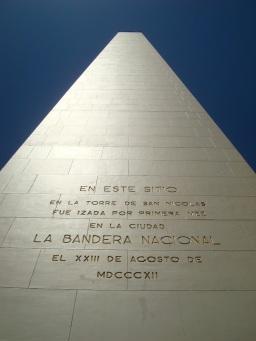 Close up Obelisco en Buenos Aires. JOHAN RAMÍREZ