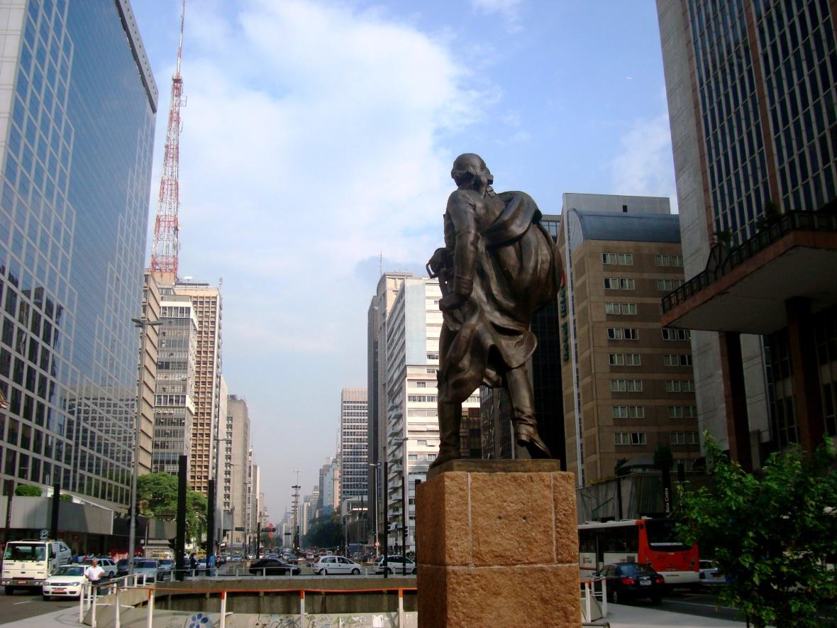 Miranda en la Av. Paulista. JOHAN RAMÍREZ